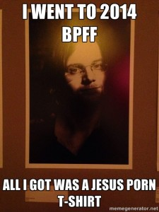 Gorgeous photo of Jochen Werner, which was on display at the film festival...and I turned into a meme.